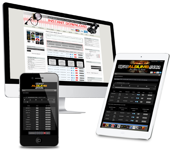 Beat Website Mobile Tablet Display